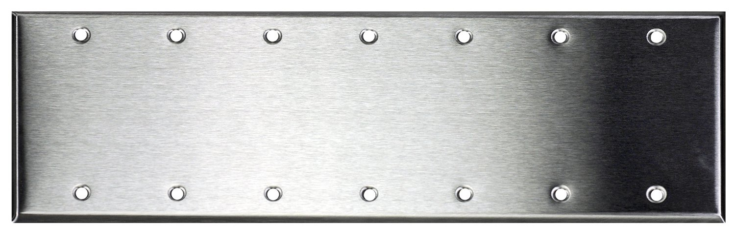 7-Gang Stainless Steel Wall Plate, Blank
