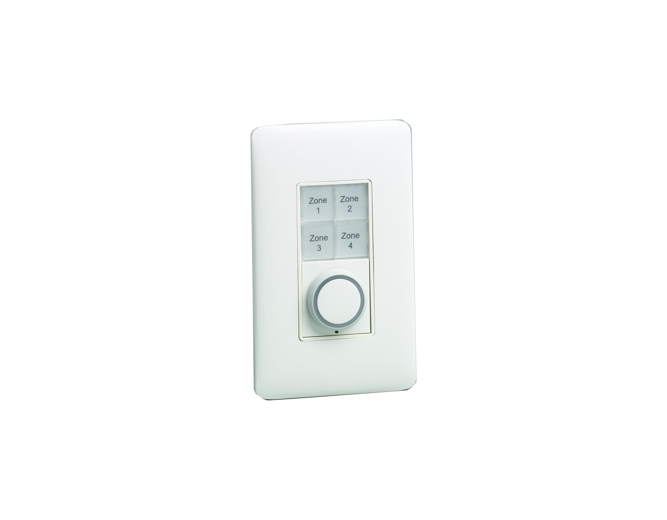 ETC/Elec Theatre Controls E1104  Single Gang Echo Inspire 4 button and 1 Fader Station E1104