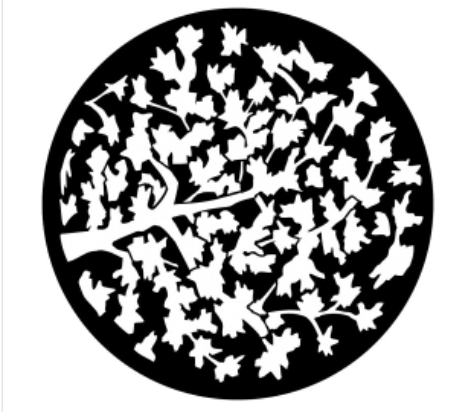 Leaves with Limb Steel Gobo