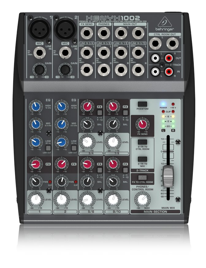 10-Input (1 mic, 4 stereo) 2-Buss with Rotary Control