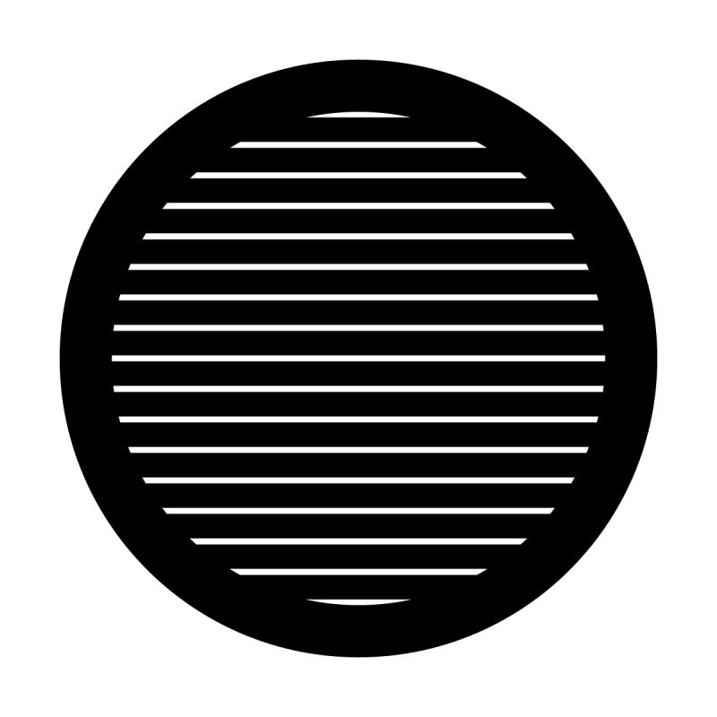 Thin Horizontal Lines Steel Gobo