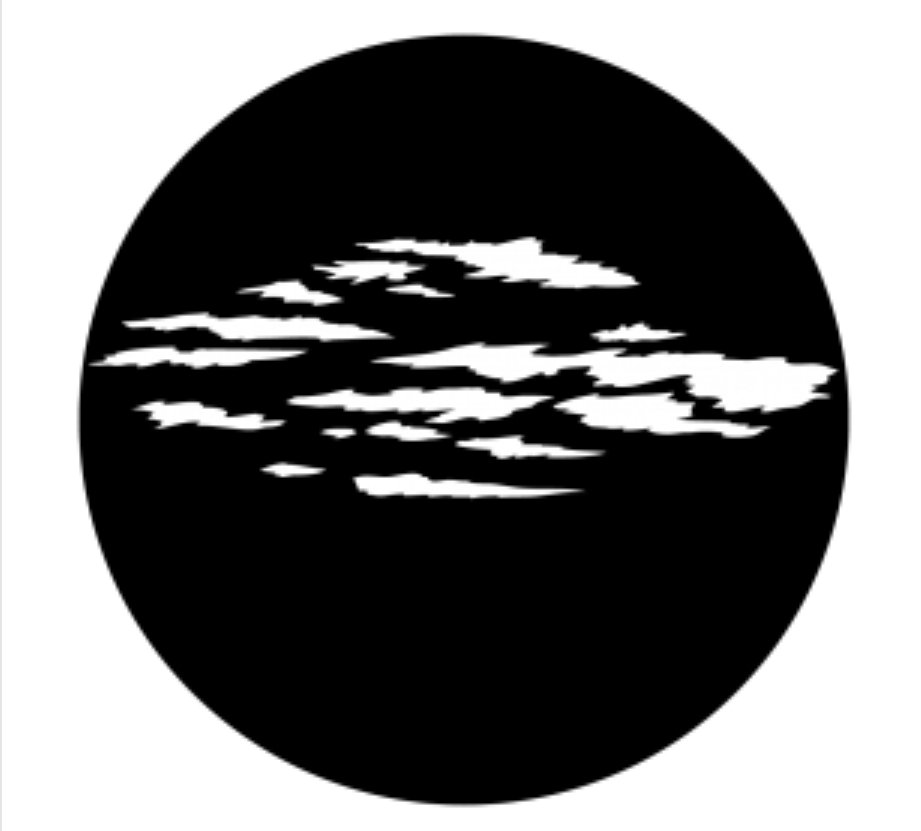 Apollo Design Technology ME-1073 Somber Clouds Steel Gobo ME-1073