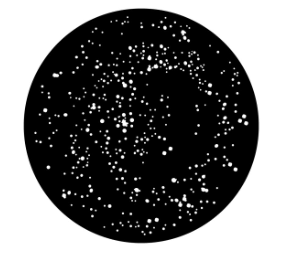 Apollo Design Technology ME-1078 Galaxy Stars Steel Gobo ME-1078