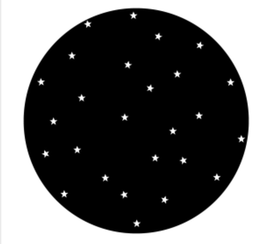Starry Night Steel Gobo