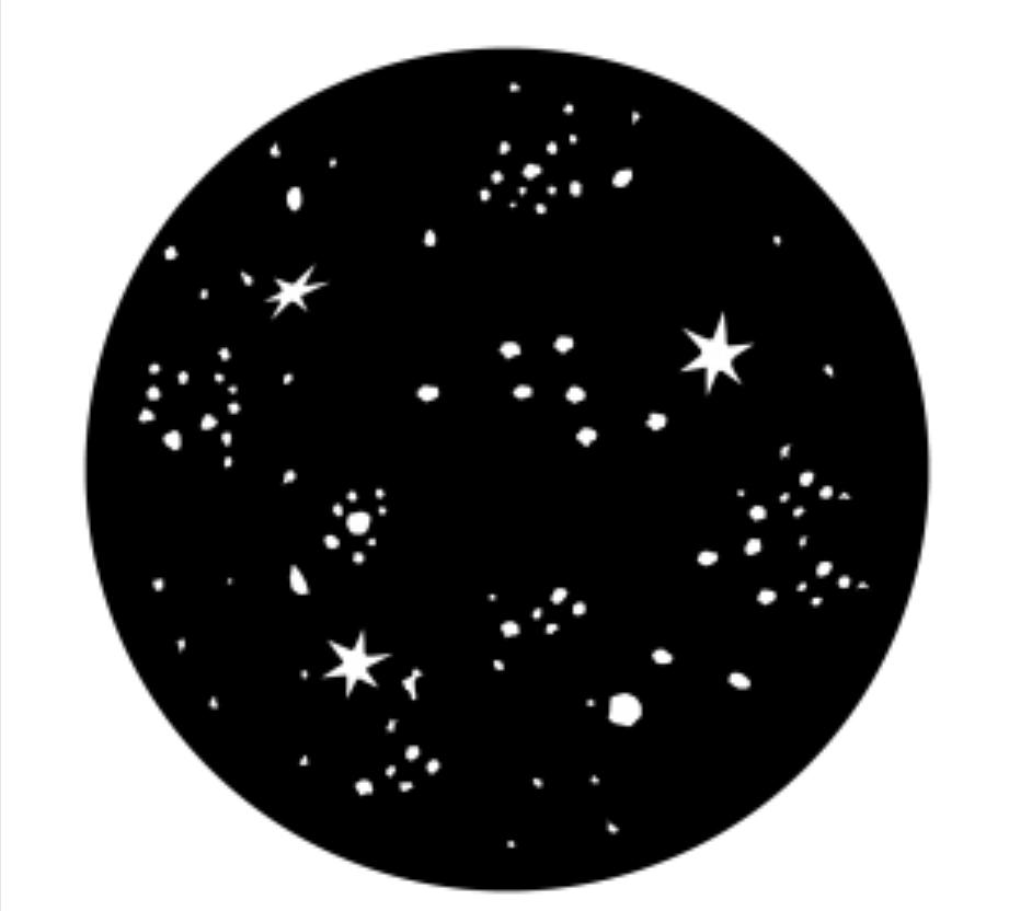 Dense Starry Night Steel Gobo