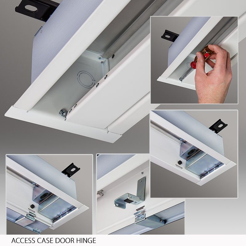 Access FIT/Series V Ceiling-Recessed Motorized Projection Screen
