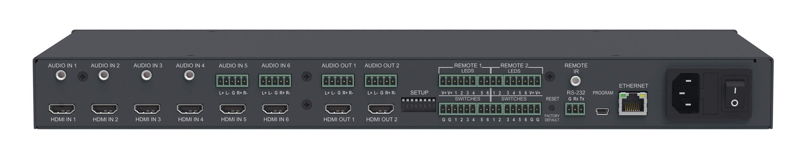 6x2 4K UHD HDMI/Audio Automatic Matrix Switcher