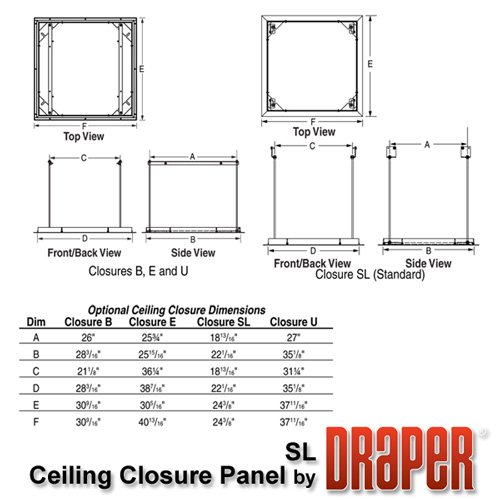 Ceiling Closure Panel for Scissor Lift SL4-12