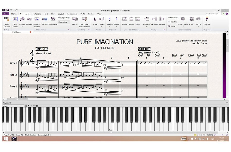 Music Notation Software Upgrade from Sibelius 1 - 7.5 for Students and Teachers