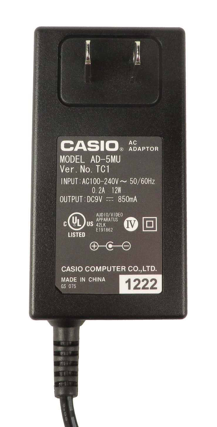 AC Adaptor for CTK720 and WK210