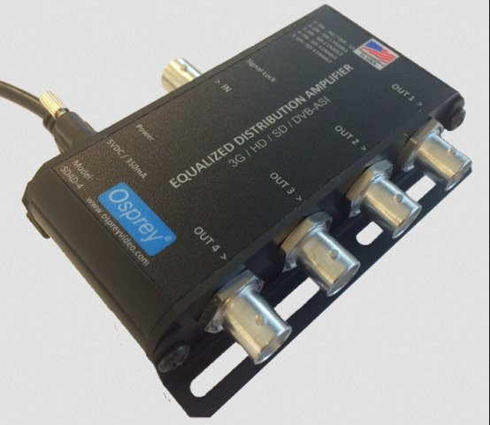 1:4 Equalized 3G Distribution Amplifier with DVB-ASI