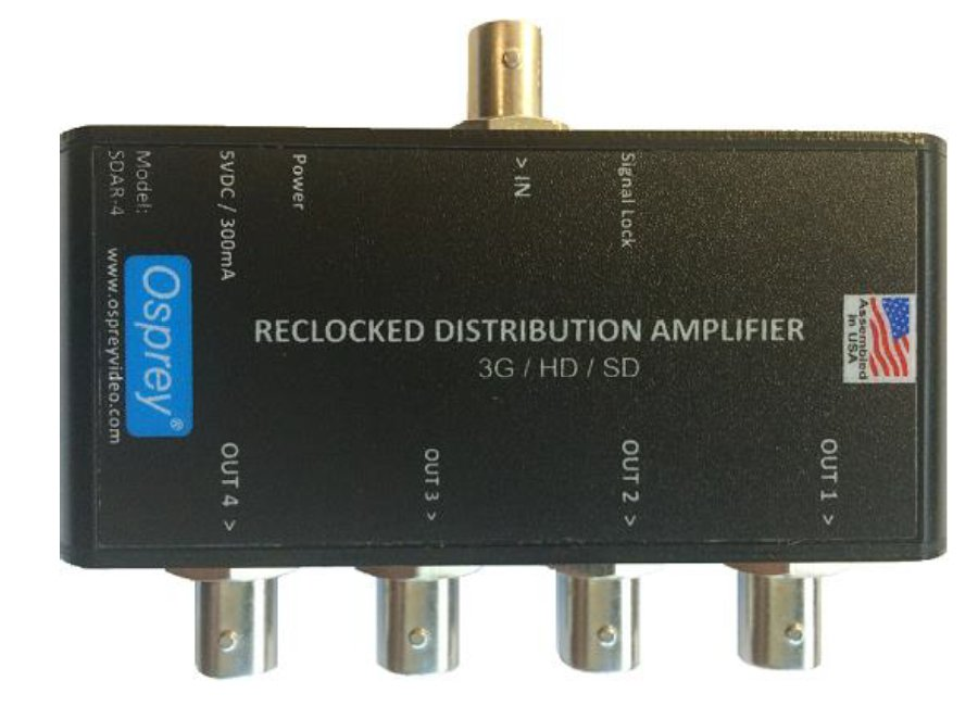 1:4 Equalized & Reclocked 3G Distribution Amplifier