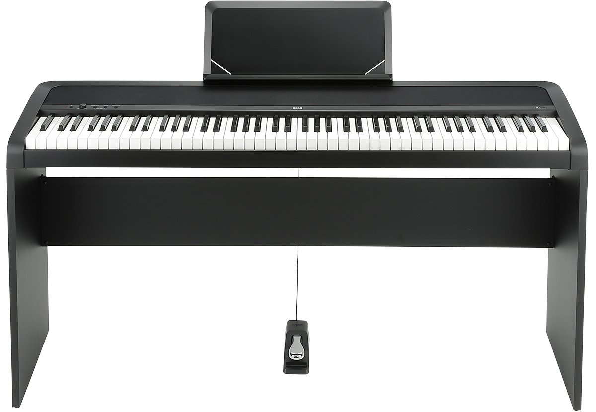 88-Key Digital Piano with Weighted Hammer Keyboard Action, Black