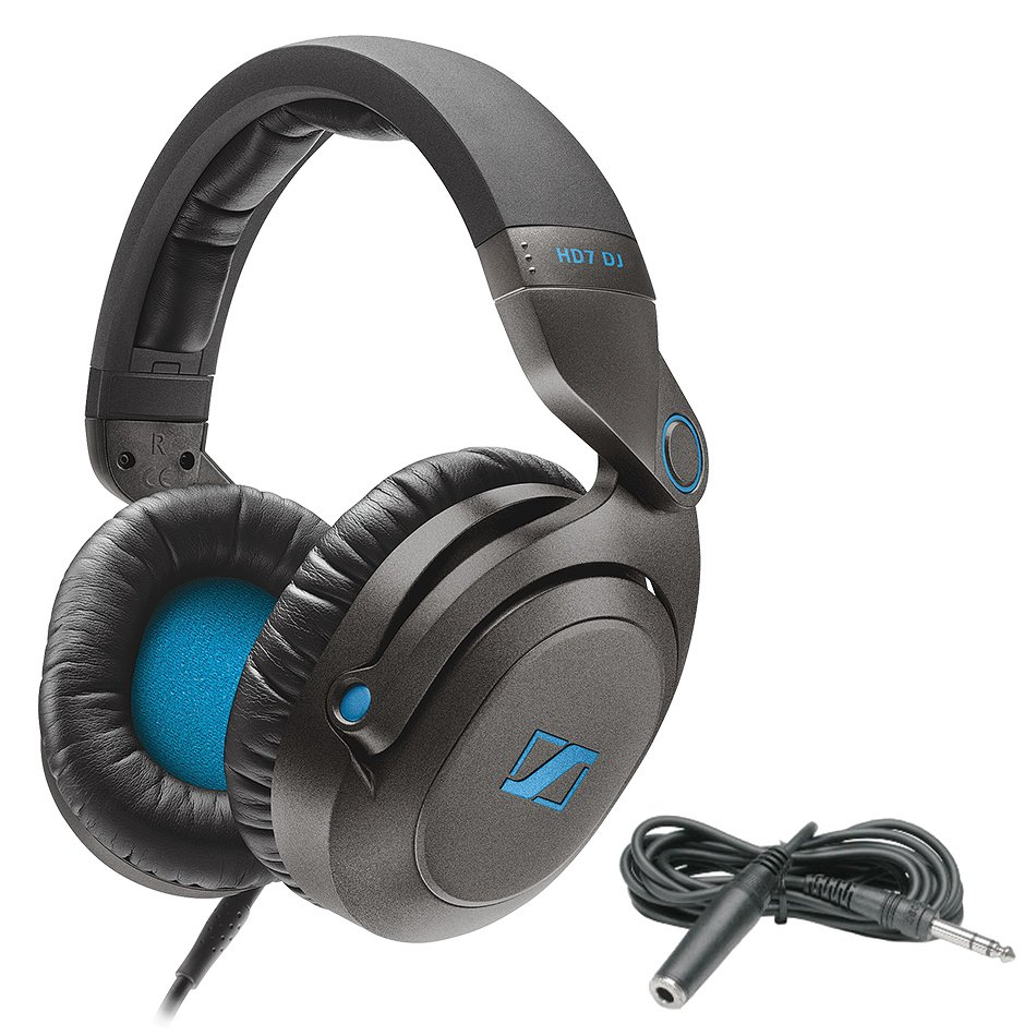 DJ Package with HD7 DJ Headphones and Hosa HPE310 Extension Cable