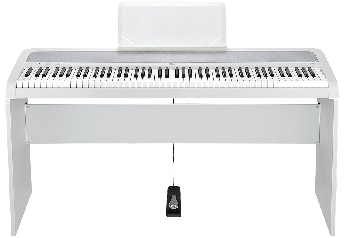 korg b1wh 88 key digital piano with weighted hammer keyboard action full compass systems. Black Bedroom Furniture Sets. Home Design Ideas