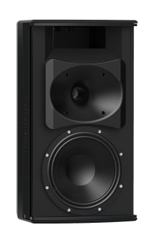 8-Inch Two-Way, 120 x 60, Installation Loudspeaker For Indoor Use, Black