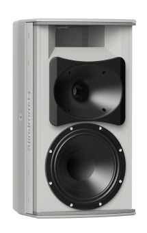 8-Inch Two-Way, 120 x 60, Installation Loudspeaker For Indoor Use, White
