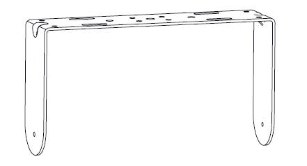 U-bracket for IC6-2082 For Indoor Use, Black