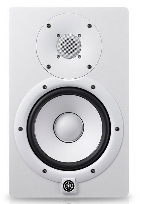 "White Bi Amplified Monitor Speaker with 6.5"" LF (60W) Cone, 1"" HF (35W) Dome Installation Speaker"