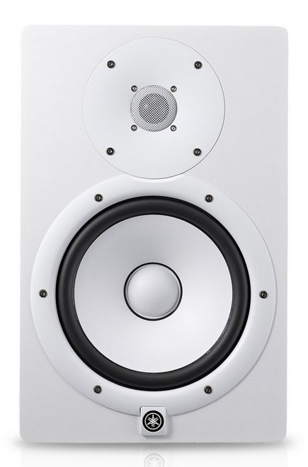 "White Bi Amplified Monitor Speaker with 8"" LF (75W) Cone and 1"" HF (45W) Dome"