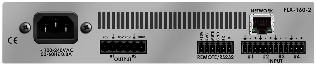 2 Channel DSP-Enabled Amplifier, (2) 160W At 70/100V, Dante Network Enabled