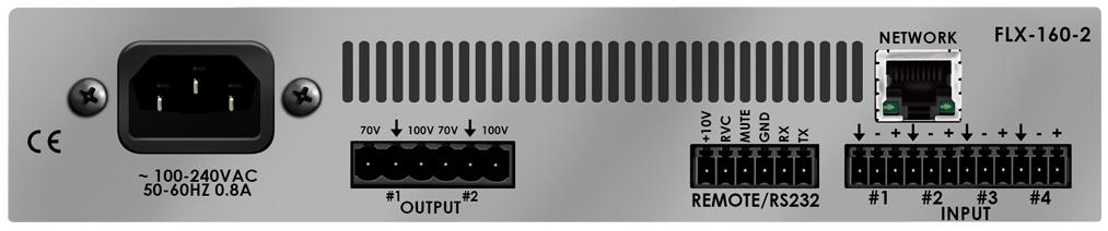 Stewart Audio FLX160-2-CV-D  2 Channel DSP-Enabled Amplifier, (2) 160W At 70/100V, Dante Network Enabled FLX160-2-CV-D