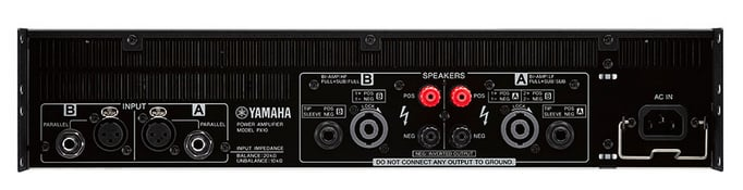 Dual-channel • 500 watts x 2 @ 4O • Lightweight Class-D Amplifier