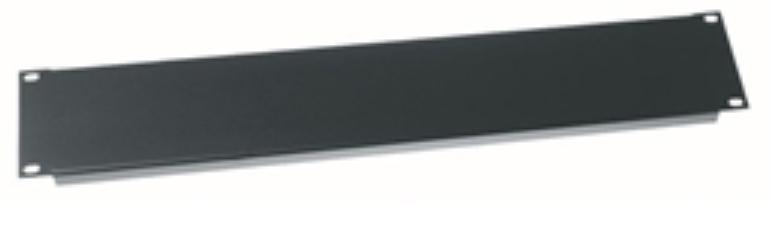 2 Space Economy Rack Panel, Black, Steel, Flanged