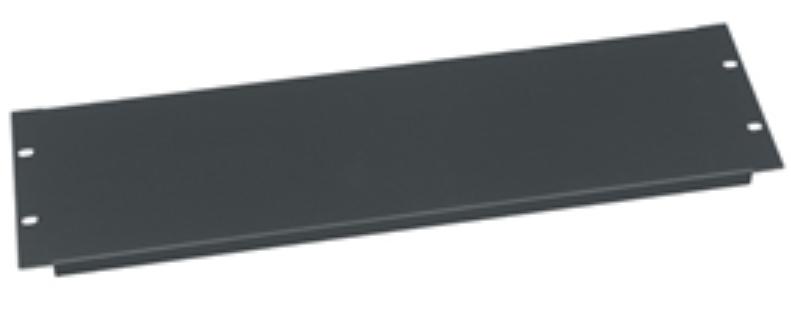 3 space Economy Steel Rack Panel in Black