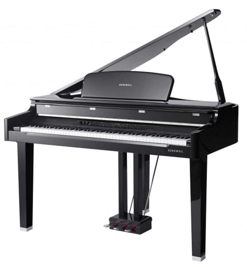 Mini-Grand Digital Piano, Black Polish