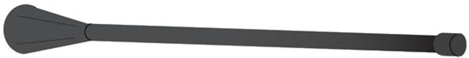 1/4 Wave Belt Antenna 488-556 MHz - Black