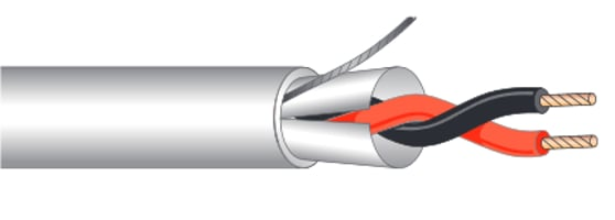 Cable, Plenum, Extra Flexible, 2c 20ga shielded, 1000'