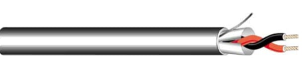 Cable, 22 AWG 2-Conductor, Shielded, By The Foot