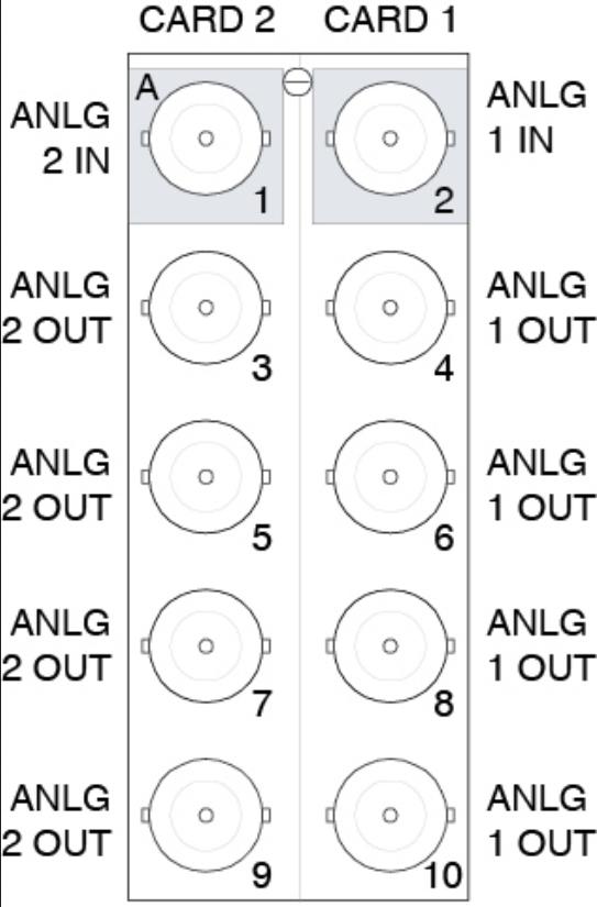 20 Slot Split Rear Module for Two UDA-8705A Amplifiers