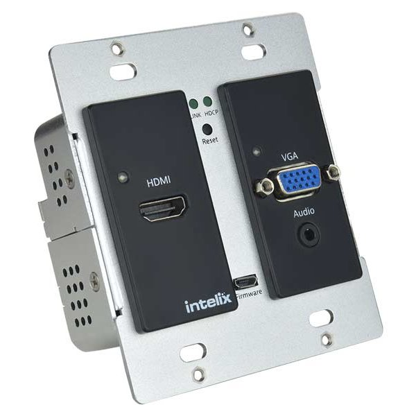 HDMI/VGA Auto-Switching Wallplate with VGA Scaling, HDBaseT Output