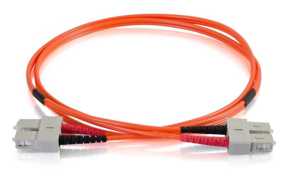 16.4 ft SC-SC 50/125 OM2 Duplex Fiber Optic Cable, Orange