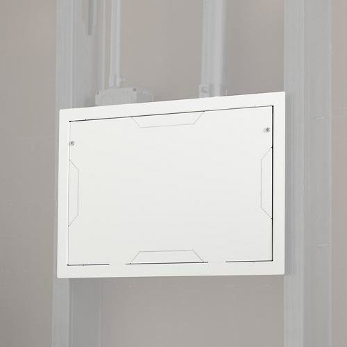 In-Wall Storage Box with Flange and Cover