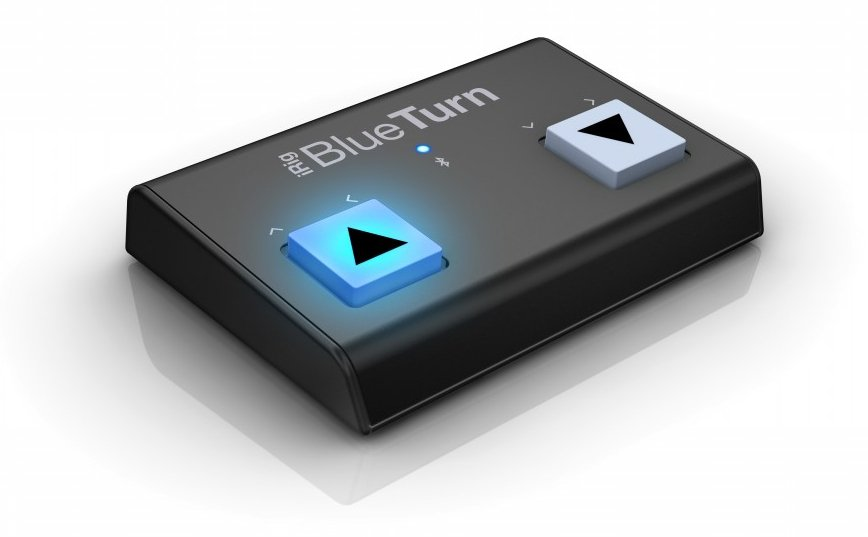 IK Multimedia iRig BlueTurn Backlit compact Bluetooth page turner - iOS/Mac/Android  IRIG-BLUETURN
