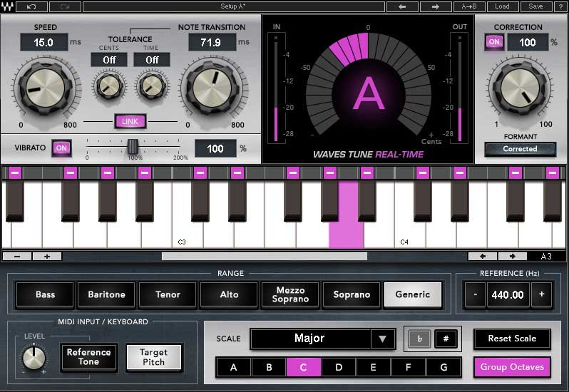 Waves Waves Tune Real-Time Real-Time Tuning Correction Plug-in (Download) |  Full Compass
