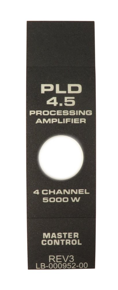 Faceplate Label for PLD4.5