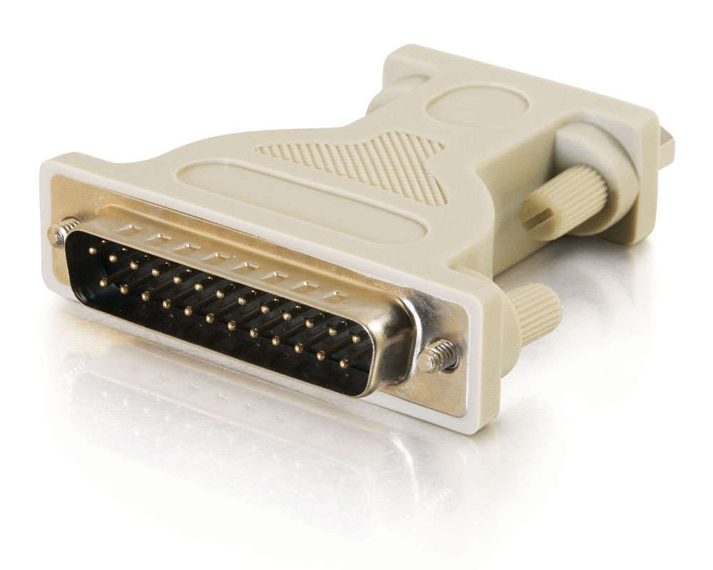 DB9 Male to DB25 Male Serial RS232 Adapter