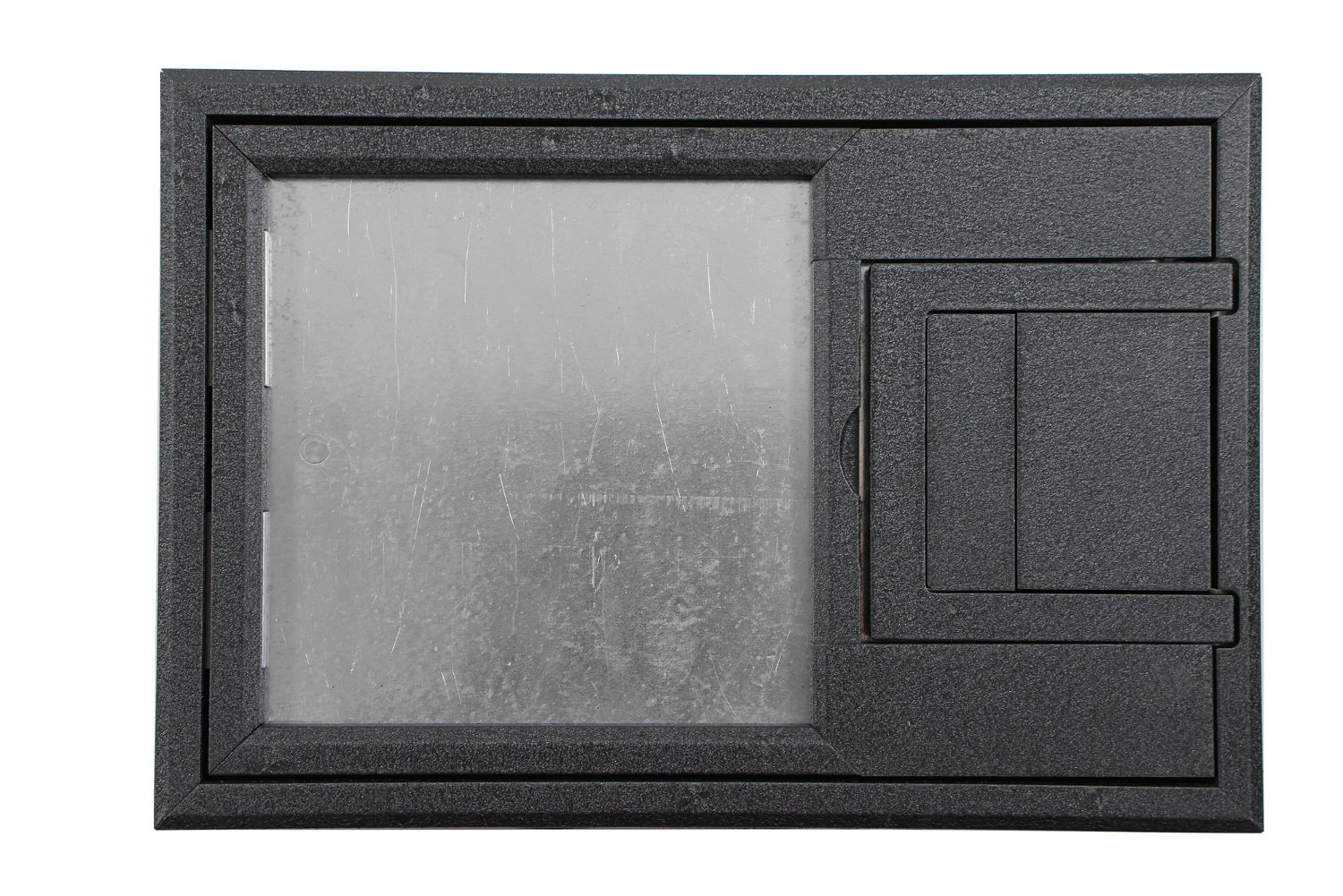 "FL-200 U-Access Cover with 1/4"" Painted Beveled Flange, Black"