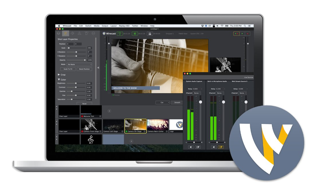 Telestream Wirecast 8 Pro Live Streaming Software For Mac