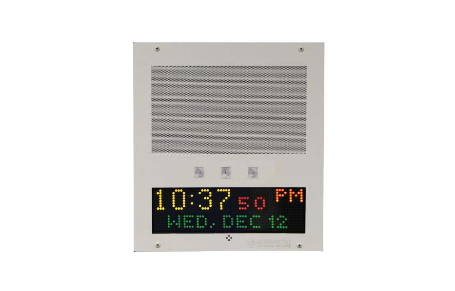 IP Speaker Flush Mount with Display and Flashers