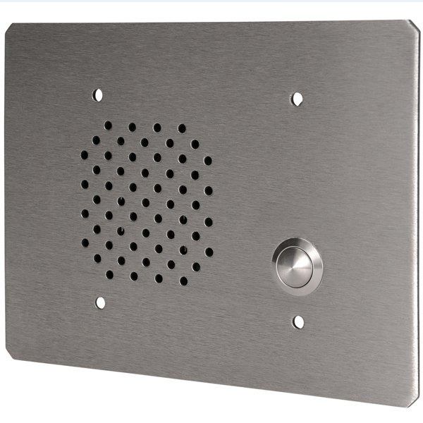 3-Gang Stainless Steel In-Wall Call-In Station with 8 Ohm Voice Coil