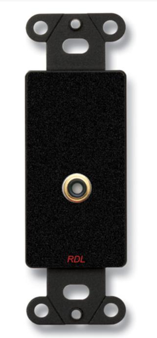 Single Phono Jack On Decora Wall Plate, Solder Type, Black