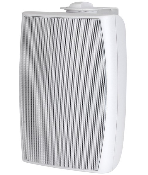 10W/70V Indoor/Outdoor Two-Way Foreground Music Speaker in White