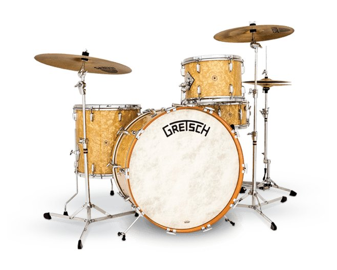 Broadkaster Vintage 4-Piece Shell Pack, Antique Pearl Finish