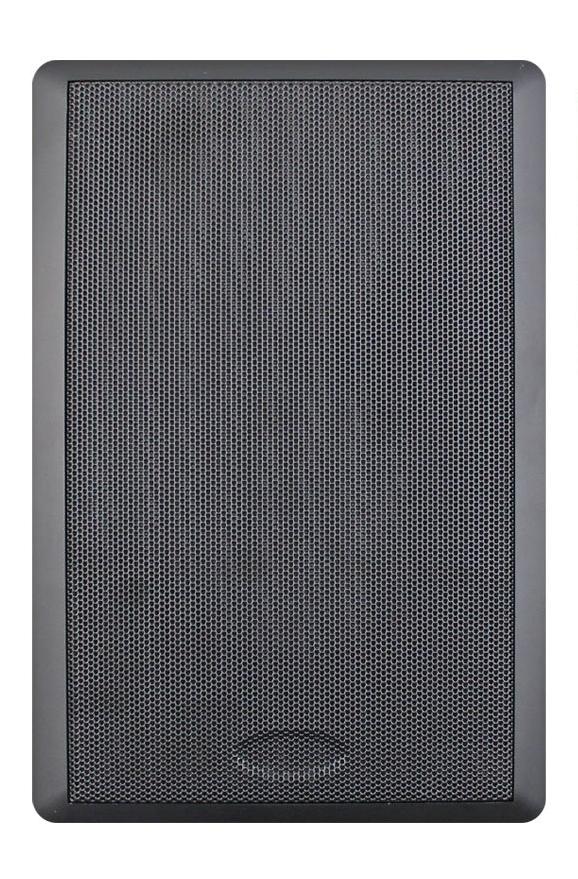"""5.25"""" 70V Slim Style Wall Mount Speaker, Black"""
