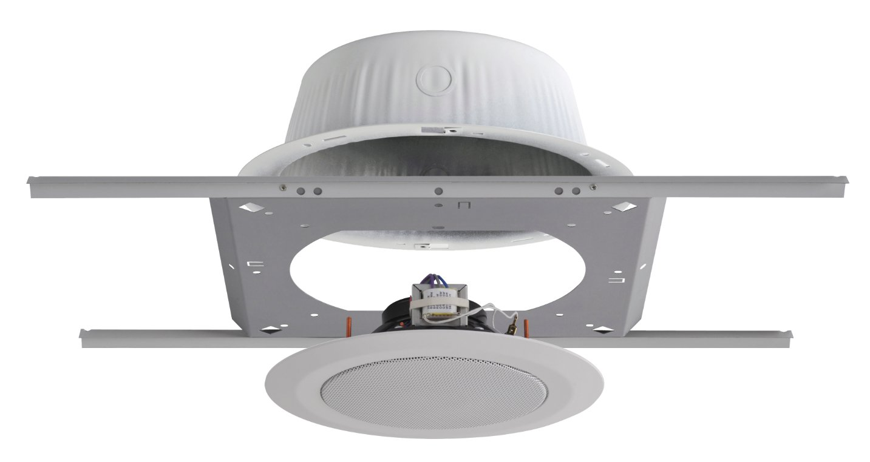 2x C10FX/BU/2WS Ceiling Speakers, 2x ERD8U Back Boxes, 2x SSB-6 Support Bridges, with QMount Brackets